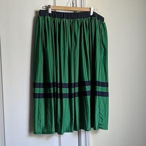 Eloquii full length skirt in green and blue